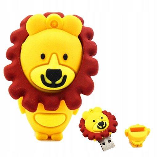PENDRIVE LEW Zwierzę Dzikie Król Flash USB 64GB