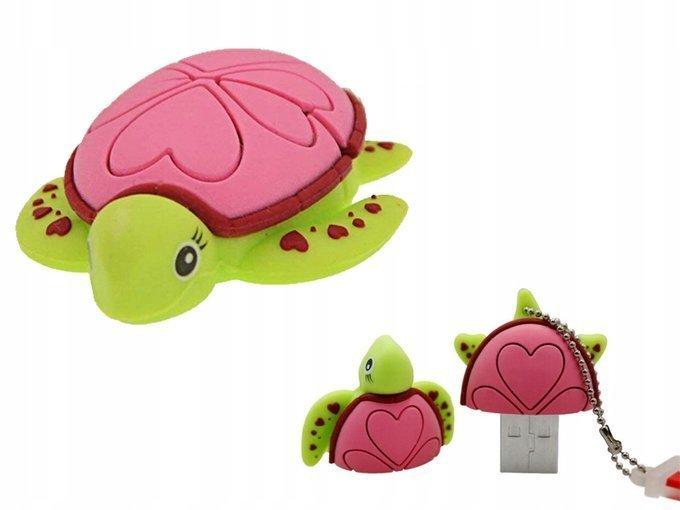 PENDRIVE ŻÓŁW Żółwie Ninja Wodny Zwierzę Gad 64GB