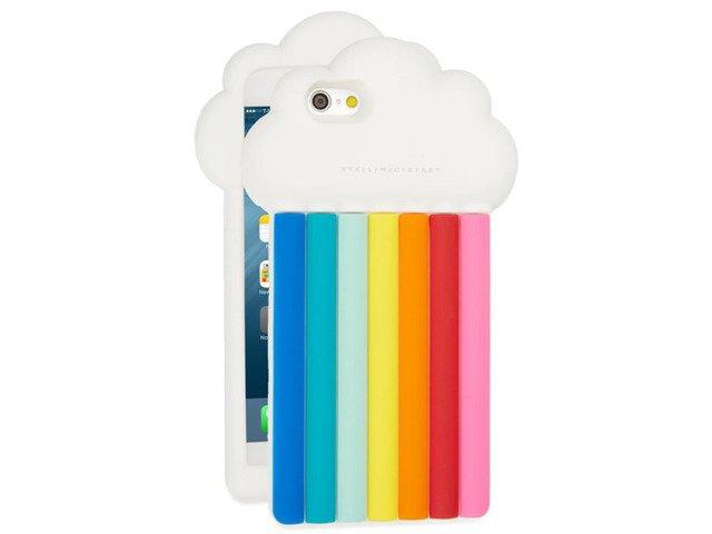 CASE ETUI SILIKON iPhone 6 6s TĘCZA CHMURA
