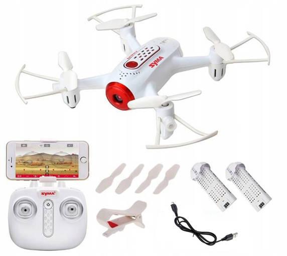 Dron Syma X22W Mini Kieszonka Kamera LED 2 BATERIE