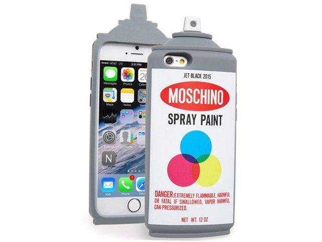 Etui Case Futerał iPhone 7 SPRAY PAINT MOSCHINO