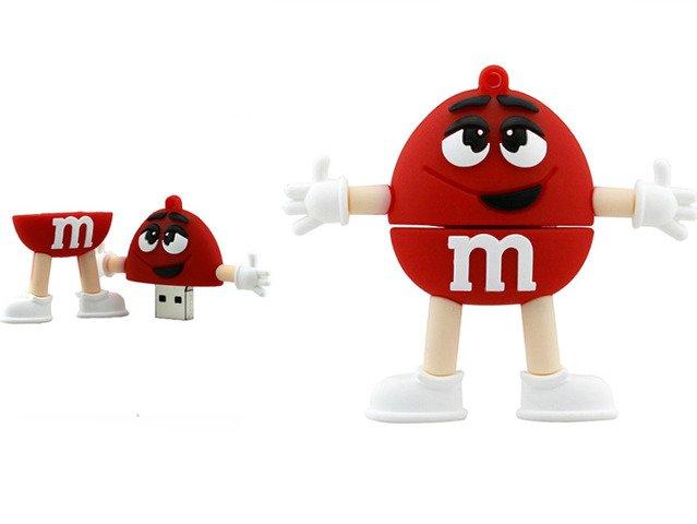 PENDRIVE CZERWONY M&M's USB Flash Prezent 16GB