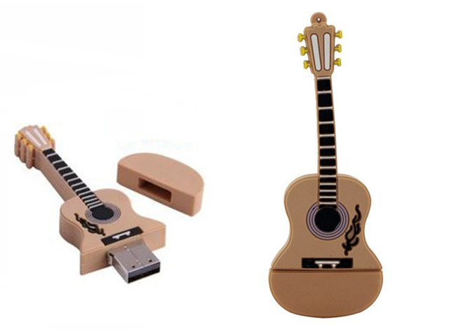 PENDRIVE GITARA Akustyczna MUZYKA USB PAMIĘĆ 16GB