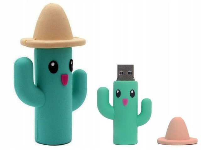 PENDRIVE KAKTUS w Kapeluszu FLASH PAMIĘĆ USB 32GB