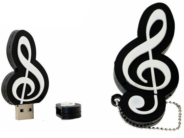 PENDRIVE KLUCZ WIOLINOWY MUZYKA USB PAMIĘĆ 8GB