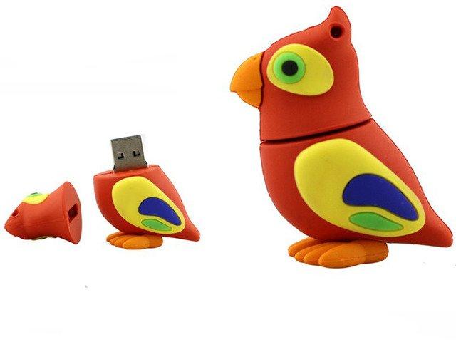 PENDRIVE PAPUGA Ptak ZWIERZĘ Prezent Flash USB 8GB