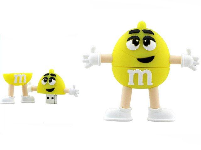 PENDRIVE ŻÓŁTY M&M's ! USB Flash Prezent 16GB